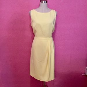 Summer yellow career dress